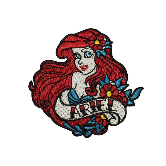Disney Princess Ariel Patch Little Mermaid Classic Movie Film Iron On Applique
