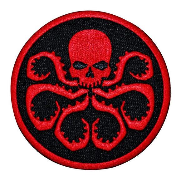 Marvel Hydra Octo Skull Patch Uniform Logo Comic Evil Agent Iron On Applique