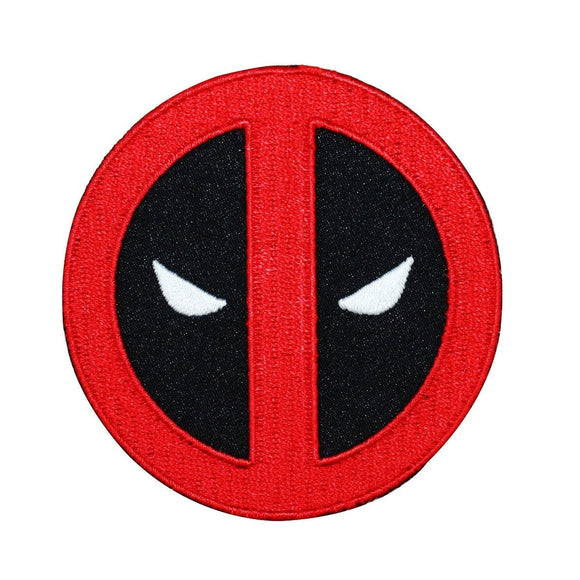 Deadpool Logo Patch Face Marvel Comics Disney Hero Costume Iron On Applique