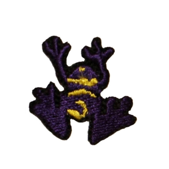 ID 0015B Small Purple Frog Patch Amphibians Tree Embroidered Iron On Applique