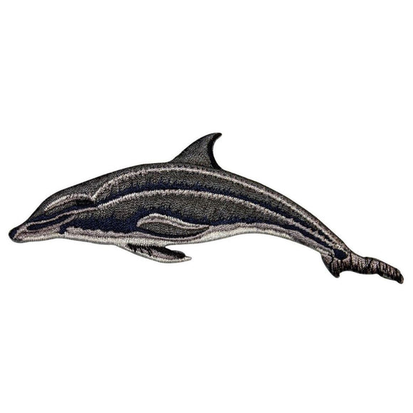 ID 0090 Dolphin Porpoise Patch Ocean Water Mammal Embroidered Iron On Applique