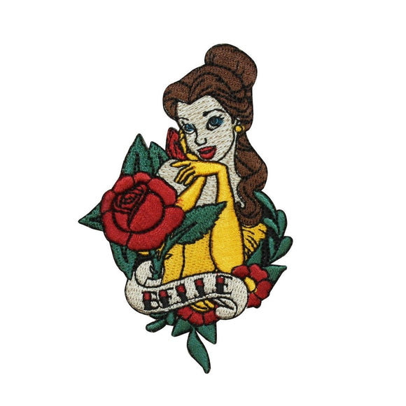 Disney Princess Belle Patch Beauty & The Beast Embroidered Iron On Applique