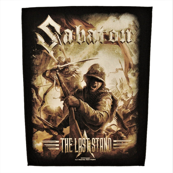 XLG Sabaton The Last Stand Back Patch Album Art Metal Jacket Sew On Applique
