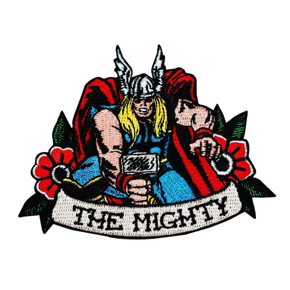 Classic Thor The Mighty Patch Disney Marvel Superhero Character Iron On Applique