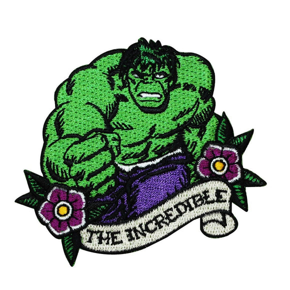 Marvel Hulk The Incredible Patch Disney Superhero Craft Apparel Iron On Applique