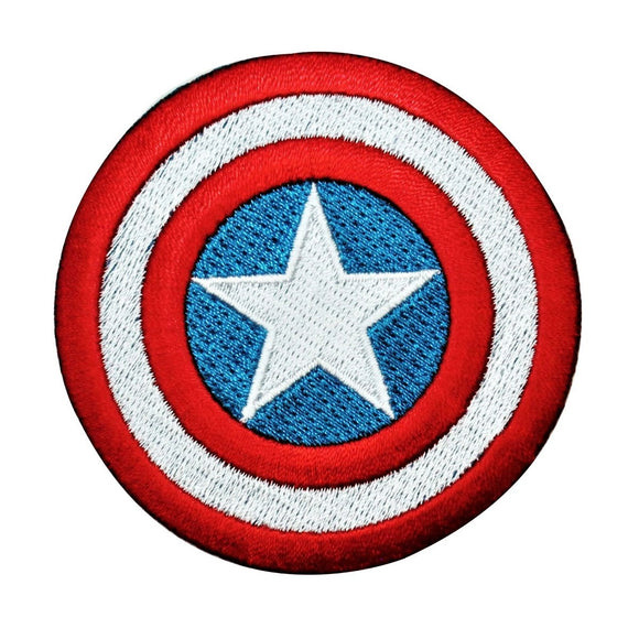 Captain America Shield Patch MCU Hero Marvel Comics Embroidered Iron On Applique