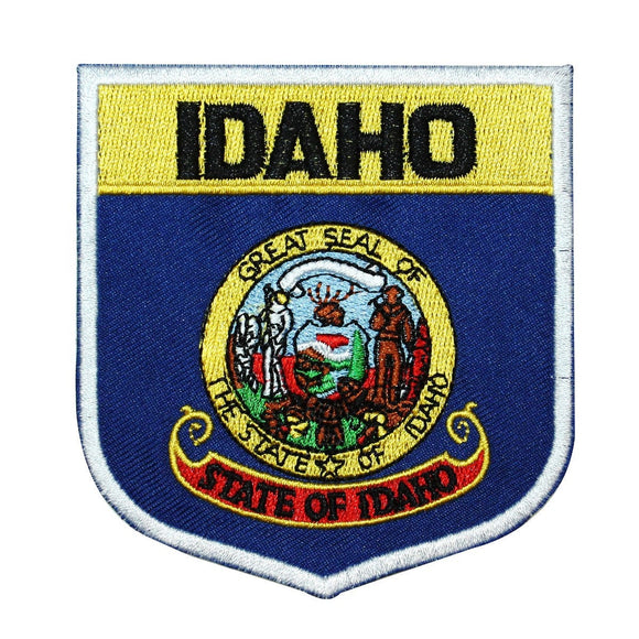 State Flag Shield Idaho Patch Badge Travel USA Seal Embroidered Iron On Applique