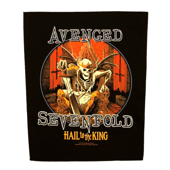XLG Avenged Sevenfold Hail to the King Back Patch Album Sew On Jacket Applique