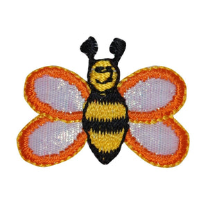ID 0443 Happy Bumble Bee Patch Garden Bug Insect Embroidered Iron On Applique