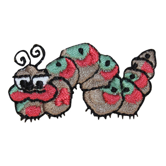 ID 0452 Grumpy Caterpillar Patch Garden Insect Embroidered Iron On Applique