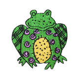 ID 0410 Cartoon Frog Stitched Patch Amphibian Sit Embroidered Iron On Applique