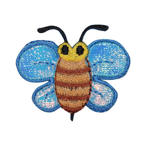 ID 0441 Bumble Bee Patch Flower Bug Insect Sting Embroidered Iron On Applique