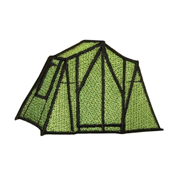 ID 0573 Camping Tent Patch Scout Pop Up Camp Nature Embroidered Iron On Applique