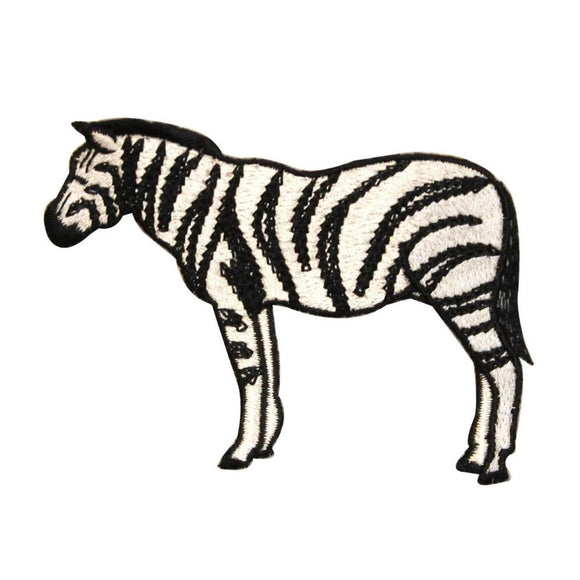 ID 0637 Wild Zebra Patch Stripe Horse African Zoo Embroidered Iron On Applique