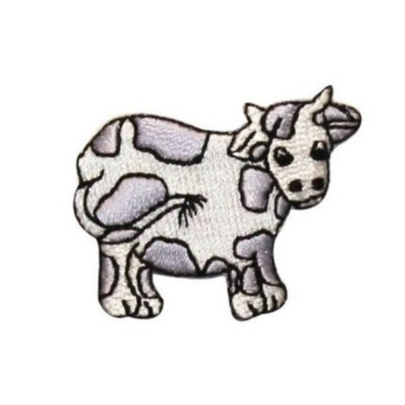 ID 0710A Cartoon Cow Patch Farm Animal Livestock Embroidered Iron On Applique