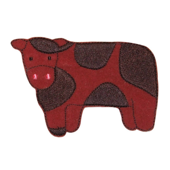 ID 0711 Cartoon Spotted Cow Patch Farm Livestock Embroidered Iron On Applique