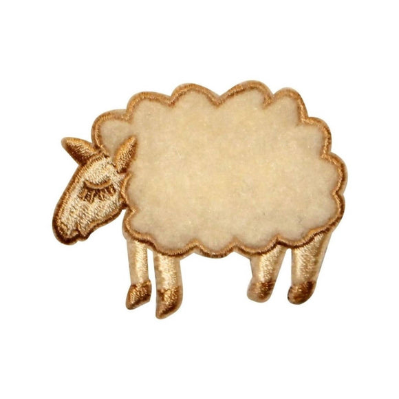 ID 0713 Woolly Sheep Patch Sleep Fluffy Farm Animal Embroidered Iron On Applique