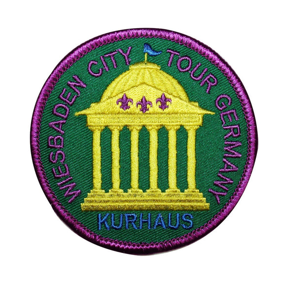 Wiesbaden City Tour Germany Patch Kurhaus Vintage  Embroidered Iron On Applique
