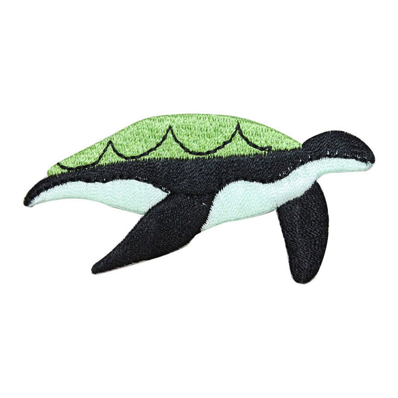 ID 0728A Sea Turtle Swimming Patch Ocean SeaLife Embroidered Iron On Applique