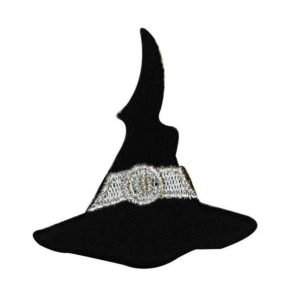 ID 0901A Witches Hat Patch Halloween Trick Treat Embroidered Iron On Applique