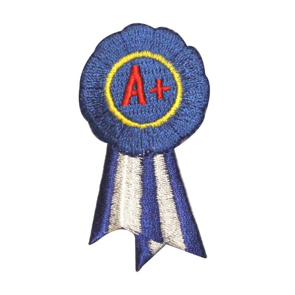 ID 1003 Blue Ribbon A Patch School Award Winner Embroidered Iron On Applique