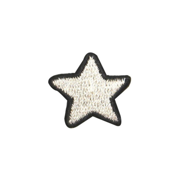 ID 1054C White Patriotic Star Patch America Craft Embroidered Iron On Applique