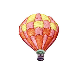 ID 1108A Checkered Hot Air Balloon Patch Festival Embroidered Iron On Applique