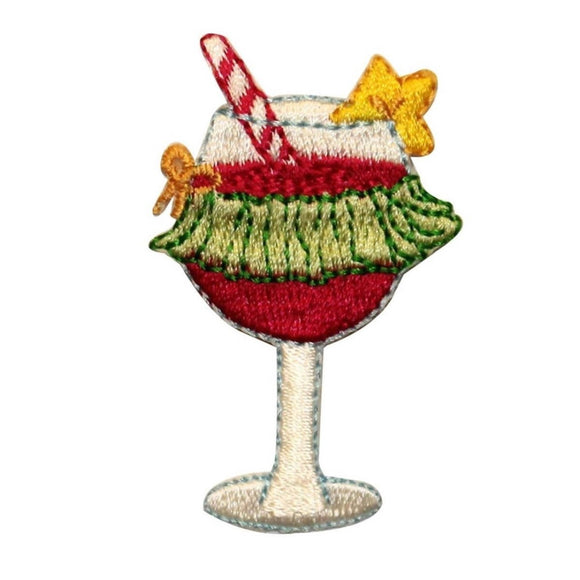 ID 1139 Hawaiian Drink Patch Cocktail Martini Mix Embroidered Iron On Applique