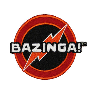 Big Bang Theory Bazinga Patch Sheldon Catch Phrase Licensed Embroidered Iron On