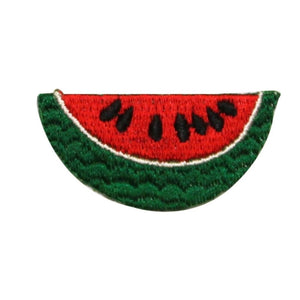 ID 1193 Watermelon Slice Patch Summer Sweet Fruit Embroidered Iron On Applique