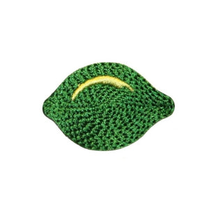 ID 1214A Whole Lime Patch Summer Drink Fruit Fresh Embroidered Iron On Applique