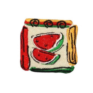 ID 1226B Watermelon Badge Patch Vine Fruit Sweet Embroidered Iron On Applique