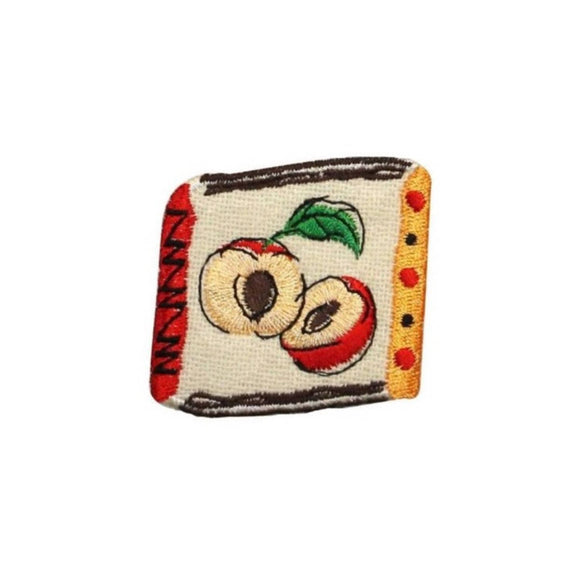 ID 1226C Apple Badge Patch Tree Fruit Sweet Seeds Embroidered Iron On Applique