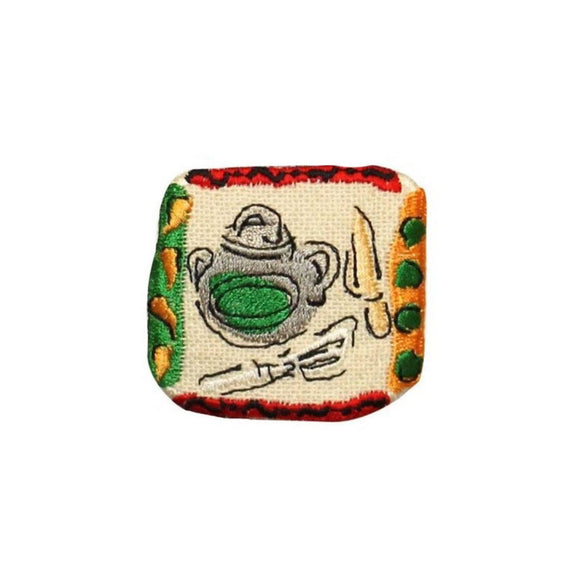 ID 1227D Baking Badge Patch Bake Cook Mix Kitchen Embroidered Iron On Applique