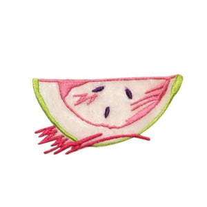 ID 1232B Lace Watermelon Patch Fruit Summer Picnic Embroidered Iron On Applique