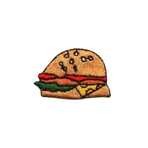 ID 1239C Sandwich Patch Lunch Time Snack Food Embroidered Iron On Applique