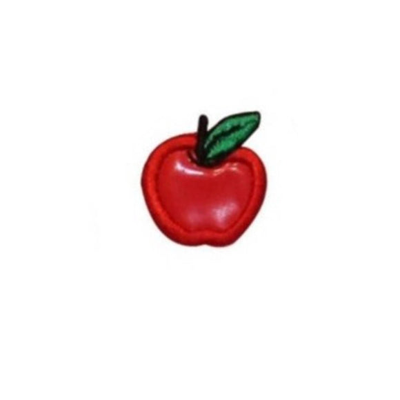 ID 1235F Tiny Apple Symbol Patch Fresh Fruit Summer Snack Vinyl Iron On Applique