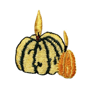 ID 1260 Pumpkins Candle Patch Halloween Decoration Embroidered Iron On Applique