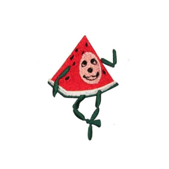 ID 1290B Happy Watermelon Character Patch Cartoon Embroidered Iron On Applique