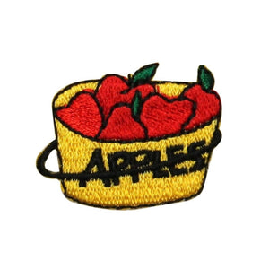ID 1296 Apple Picking Patch Orchard Farm Harvest Embroidered Iron On Applique