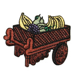 ID 1302 Fruit Cart Patch Old Wooden Street Vendor Embroidered Iron On Applique