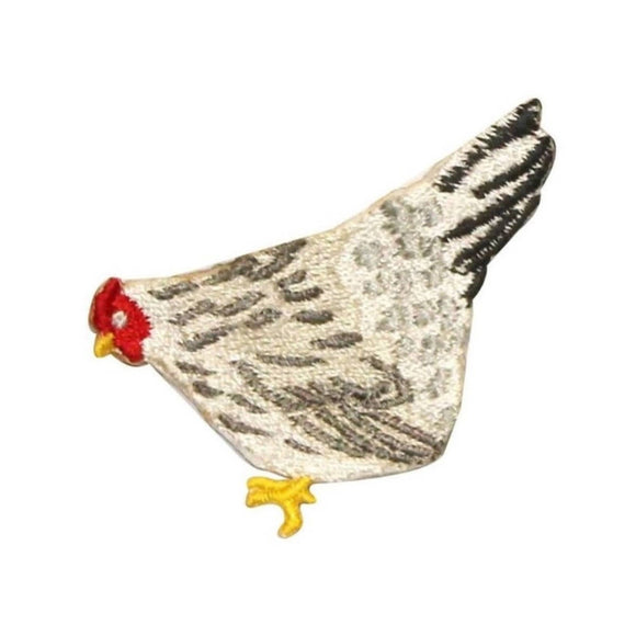 ID 0607Z Farm Chicken Patch Country Chick Hen Roost Embroidered Iron On Applique