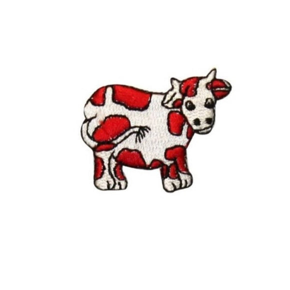 ID 0710D Cartoon Cow Patch Farm Animal Livestock Embroidered Iron On Applique