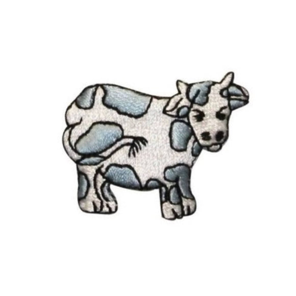 ID 0710E Cartoon Cow Patch Farm Animal Livestock Embroidered Iron On Applique