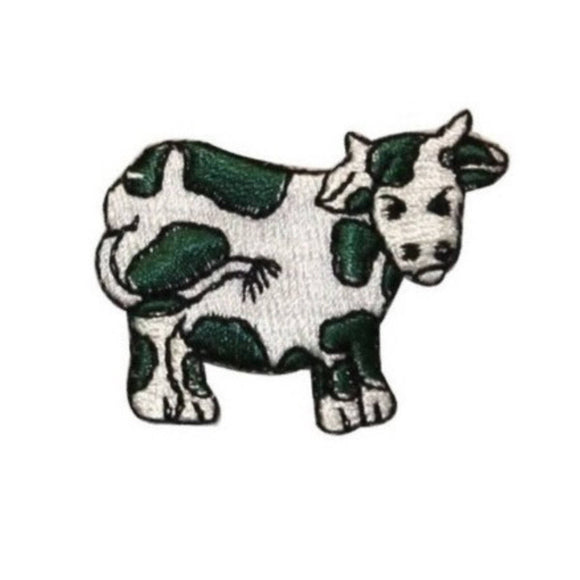 ID 0710G Cartoon Cow Patch Farm Animal Livestock Embroidered Iron On Applique