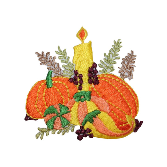 ID 1411 Halloween Pumpkins Decoration Patch Candle Embroidered Iron On Applique