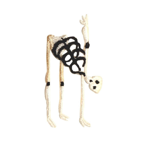 ID 0885 Scary Skeleton Patch Halloween Decoration Embroidered Iron On Applique