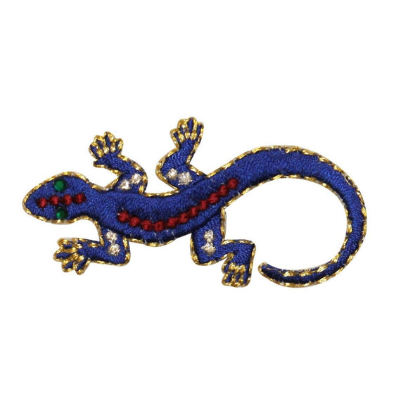 ID 0744 Colorful Lizard Patch Gecko Reptile Crawl Embroidered Iron On Applique