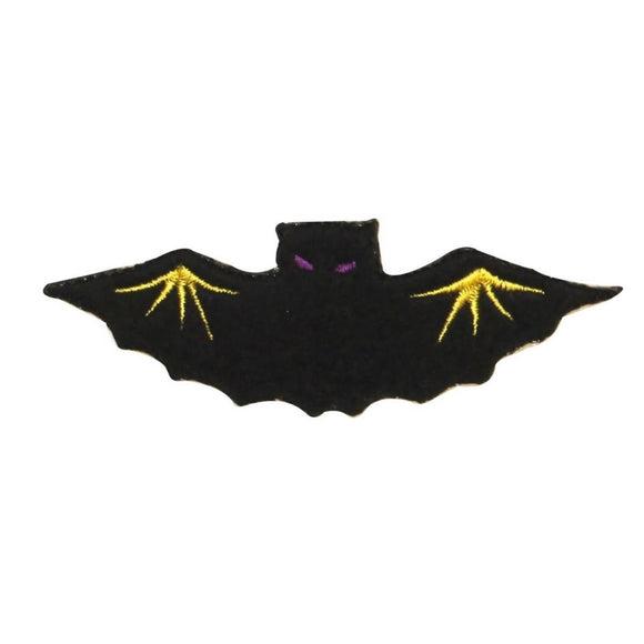 ID 0928 Vampire Bat Patch Halloween Flying Felt Embroidered Iron On Applique
