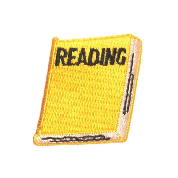 ID 0987C School Reading Book Patch Homework English Embroidered Iron On Applique